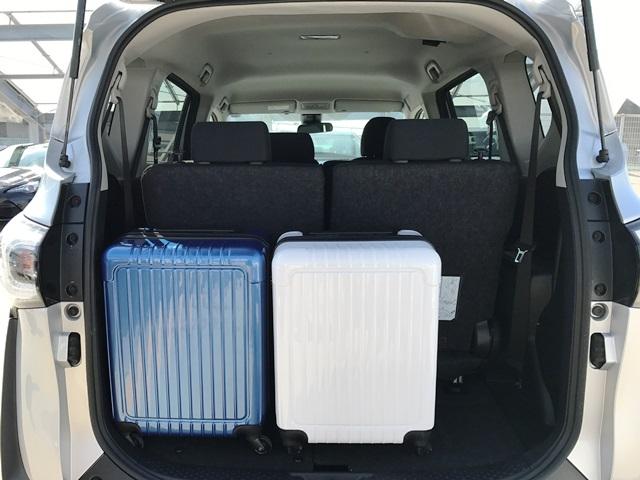▲荷室空間は、キャリーバッグ(機内持ち込みサイズ)×2個が収納スペース