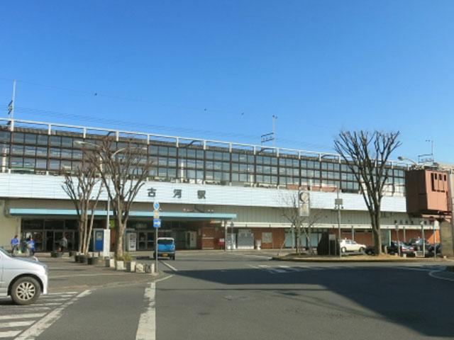 """古河(こが)駅は、栃木県や群馬県、埼玉県の県境に位置する茨城県の西端、古河市の中心駅です。東京駅から岩手は盛岡駅へと延びるJR東日本・東北本線が乗り入れています。埼玉県にある東武鉄道日光線・新古河駅からは、渡良瀬川にかかる国道354号線を経由して約15分でアクセス可能です。 駅の西側方面は、古河歴史博物館や文学館、長谷観音や朱雀神社など観光スポットがいっぱいです。車で約10分の渡良瀬(わたらせ)遊水地は、巨大なハート型の人口湖「谷中湖」を中心にヨシ原が広がっています。2012年には、湿地保存の国際条約であるラムサール条約にも登録されました。これまでに絶滅危惧種を含む約260種類の野鳥や、約1000種の植物が確認され、貴重な自然を体感できるレジャースポットとして賑わいます。 春には5種類・約1,500本の花桃が咲き誇る""""花桃の里""""、古河公方公園へは、駅から車を利用して約10分。釣り堀や地下迷路、遊具などが設置されたネーブルパークへは約15分で到着します。 例年12月に古河駅西口のおまつり特設会場で行われる古河提灯竿もみまつりは、江戸時代から続く古河市の伝統行事です。先に付けた提灯の火を消そうと、高さ10~20mの竹竿を激しくぶつけ合う独特なパフォーマンスは、""""関東の奇祭""""とも称されます。お祭り会場へは、駅西口から徒歩約20分。当日は、会場近くの道路に交通規制が敷かれますので、お出かけの際はご注意くださいね。"""