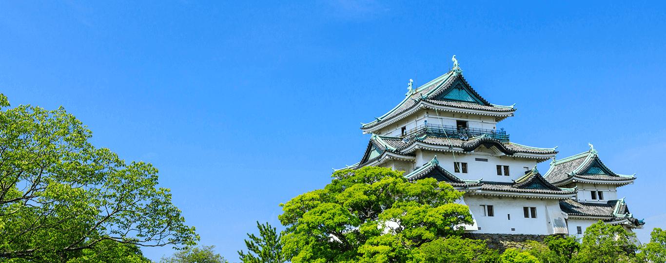 和歌山県は紀伊半島の南西部に位置しており、県土面積の約8割を紀伊山地が占めています。紀伊山地は古代より神々が宿る聖域とされていました。平安時代後期になると神仏習合の考えに基づき、奥深い山中を浄土と捉えるようになります。僧たちは修行の場として、人々は神をに詣でるためにこの地を目指すようになりました。和歌山の山岳信仰の中心となったのが「熊野三山」と「高野山」です。 熊野三山は、本宮(熊野本宮大社)、新宮(熊野速玉大社)、那智(熊野那智大社)の総称です。三社はお互いの主祭神を祀り合い、熊野三所権現として信仰しました。三社は熊野古道中辺路で結ばれています。日本サッカー協会のエンブレムに描かれている八咫烏(やたがらす)は、神武天皇の道案内をしたとされる伝説の烏で、熊野の守り神として三社に祀られています。 高野山は、816年に弘法大師・空海によって開かれた真言密教の聖地です。正式には高野山真言宗総本山金剛峯寺といい、山中に117の寺院が点在しています。なかでも、壇上伽藍と奥の院は二大聖地と呼ばれ、この2つのエリアを中心に参拝するのが一般的です。壇上伽藍には金堂をはじめ19棟の建造物が存在します。弘法大使が最初に整備した地で、信仰の中心地に位置付けられています。一方、奥の院は弘法大使御廟を中心とする、弘法大使の入定の地です。 和歌山県のリゾート地として人気が高いのが「白浜温泉」です。白と青のコントラストが美しい白良浜など、多くの景勝地が存在します。「アドベンチャーワールド」は、水族館・動物園・サファリが一体となったテーマパークで、これまでに16頭の繁殖に成功しているパンダファミリーが人気です。
