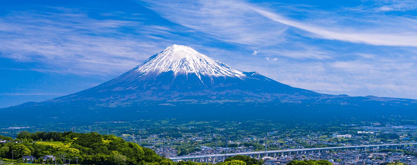 静岡県の観光スポットといえば、なんといっても富士山です。県内にはいくつもの富士山に関するスポットがあります。静岡市の三保半島東岸にある「三保松原」は、昔から遠景の富士山と近景の松原との対比が楽しめる景勝地として知られています。標高307mの日本平からは、富士山や駿河湾、茶畑といった静岡らしい景色が見られ、夜景スポットにもなっています。 実際に静岡側から富士山を登るなら、富士山スカイラインを通って標高約2380mの「表富士宮口五合目」までは車で行くことが可能です。ここから登山道で富士山の頂上を目指したり、ハイキングコースで富士山からの眺望や自然を気軽に楽しむことができます。 静岡県はのんびり過ごせる温泉地やリゾート地も豊富です。伊豆半島には熱海や伊豆高原など特に人気のエリアが集まっており、リゾートホテルや温泉宿に加え、サボテンやカピバラで有名な「伊豆シャボテン動物公園」、海が見える景色や美術品を見て優雅な時間が過ごせる「MOA美術館」など観光スポットも近くにたくさんあります。 子どもと一緒に静岡観光するなら、バスに乗ってライオンなどの動物を間近で見られる「富士サファリパーク」や、アザラシショーが楽しめる「下田海中水族館」などのスポットもおすすめです。他にも、浜名湖に面したテーマパーク「浜名湖パルパル」ではコースターやメリーゴーランドなど数十種類のアトラクションで遊んだり、浜名湖内を走るボートや遊覧船に乗れたりします。