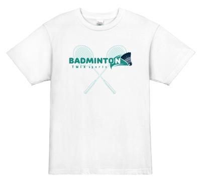 バドミントンのアイテム1つ1つをおしゃれに演出したTシャツ