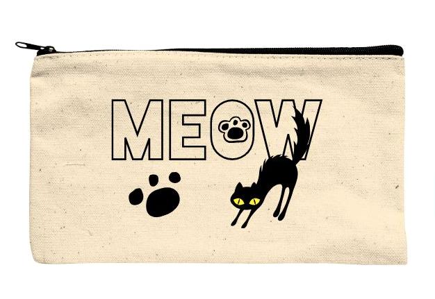 猫好きの相手を想って制作したオリジナルポーチ
