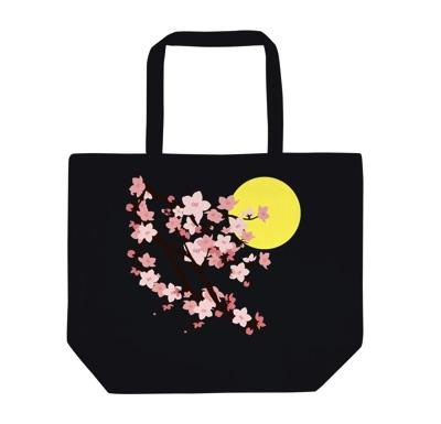 桜と月│キャンバス生地のオリジナルトートバッグ