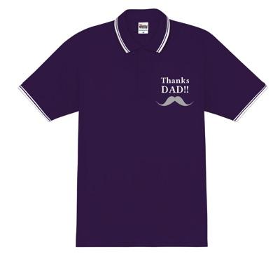 王道!父の日用ポロシャツデザイン│父の日はオリジナルポロシャツをプレゼント