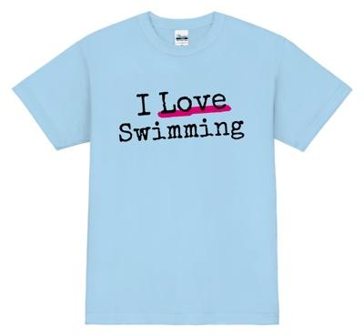 シンプルだけど、ポップ。女性におすすめ!な水泳Tシャツデザイン