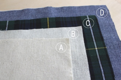 布を裁断する│バッグインバッグの作り方
