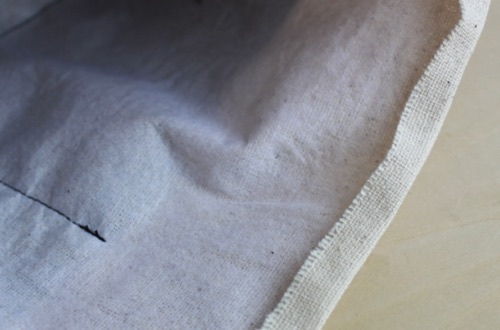バッグの口部分を縫う│バッグインバッグの作り方