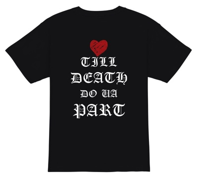 Till death do us part 英語Tシャツ