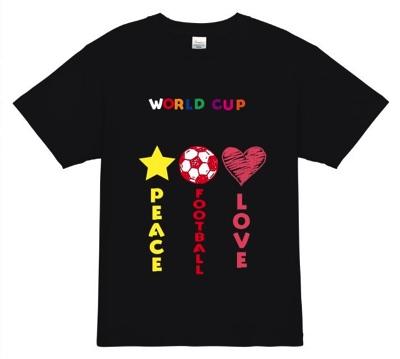 ワールドカップは平和の象徴│サッカーオリジナルTシャツ