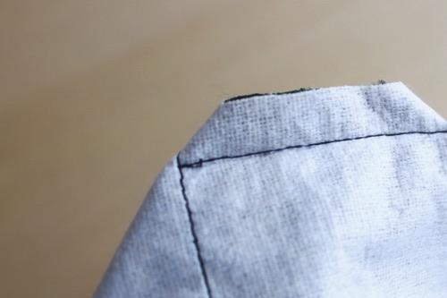 マチを縫う 2│バッグインバッグの作り方