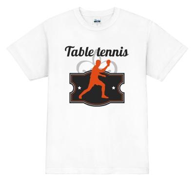 選手のシルエット入り卓球Tシャツ