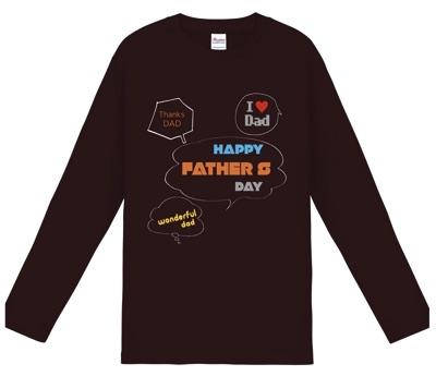 家族全員のメッセージ入り長袖Tシャツ│父の日はオリジナルポロシャツをプレゼント