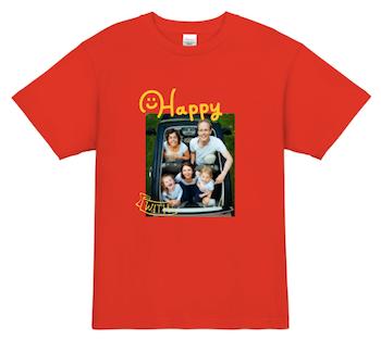 家族の写真を使ったオリジナルTシャツ