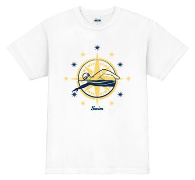 キラキラと輝き、水泳の栄光をつかみとるイメージ!のTシャツ