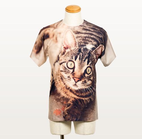 フルグラフィックTシャツ ネコの写真