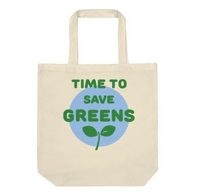 Time to save greens│キャンバス生地のオリジナルトートバッグ