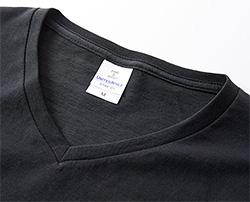 ファインジャージーVネックTシャツの生地画像