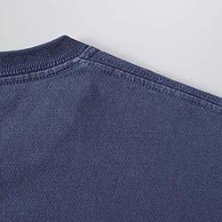 ポケット付きピグメントダイTシャツの生地画像