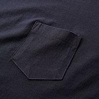 ポケット付きファインジャージーTシャツの生地画像