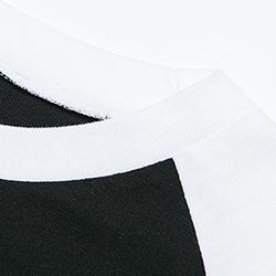 ヘビーウェイトベースボールTシャツの生地画像