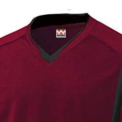 ベーシックロングスリーブサッカーシャツの生地画像
