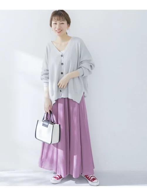 青みピンクスカート