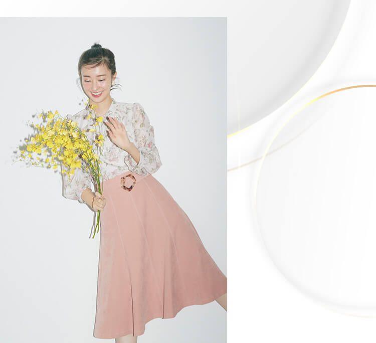 宮本茉由 JILL by マーメイドラインでスタイルをよく見せて
