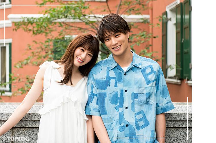 鈴木伸之さんと岡本杏理さんの夏のデートルック