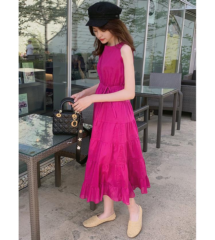 プラムピンクのワンピでドレスアップ