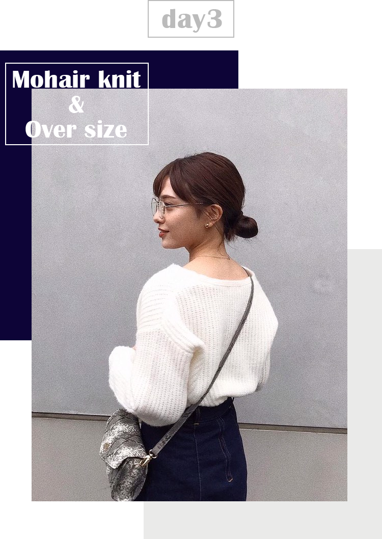 Mohair knit & Over size