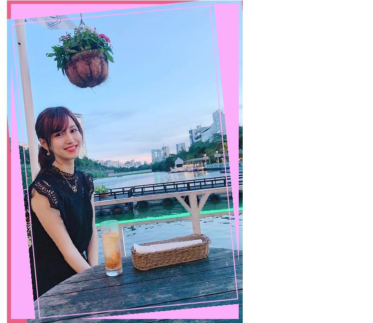 CANAL CAFE 飯田橋 景色と一緒に