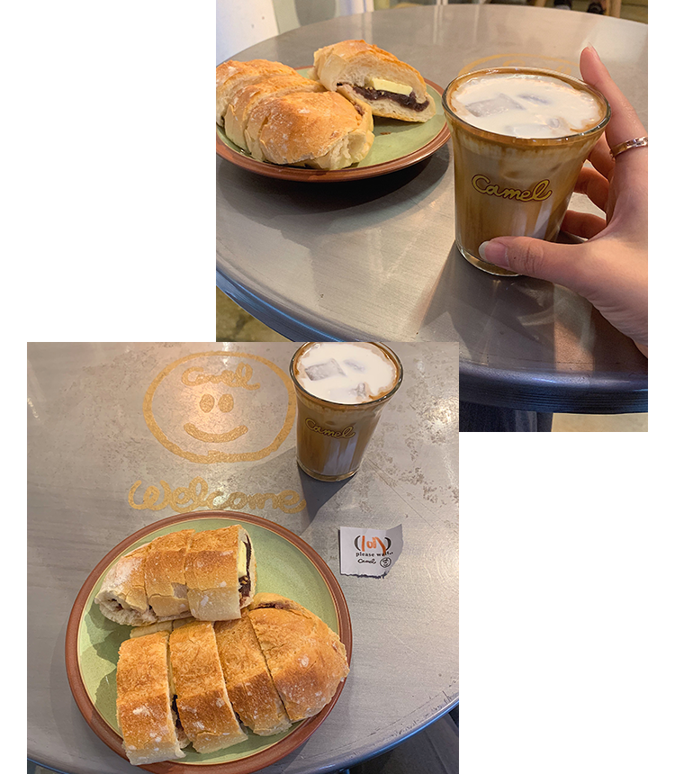 Camel Coffee & Ang Butter Bread.