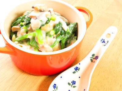 鉄分豊富◎ほうれん草とあさりのクリーム煮のレシピ