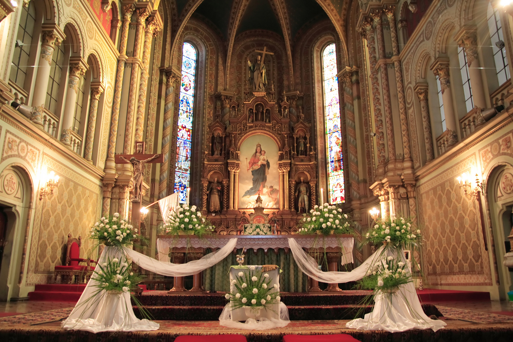 結婚式が行われる教会