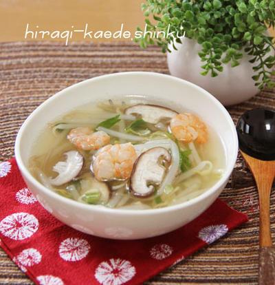ダイエットにも☆海老セロリもやしの脂肪燃焼デトックススープのレシピ