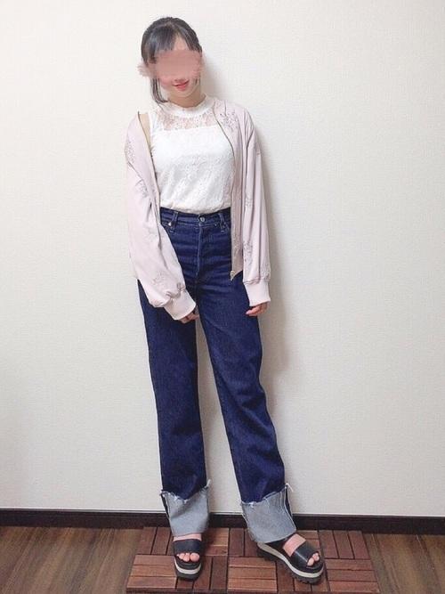 デニムパンツを使った文化祭の服装