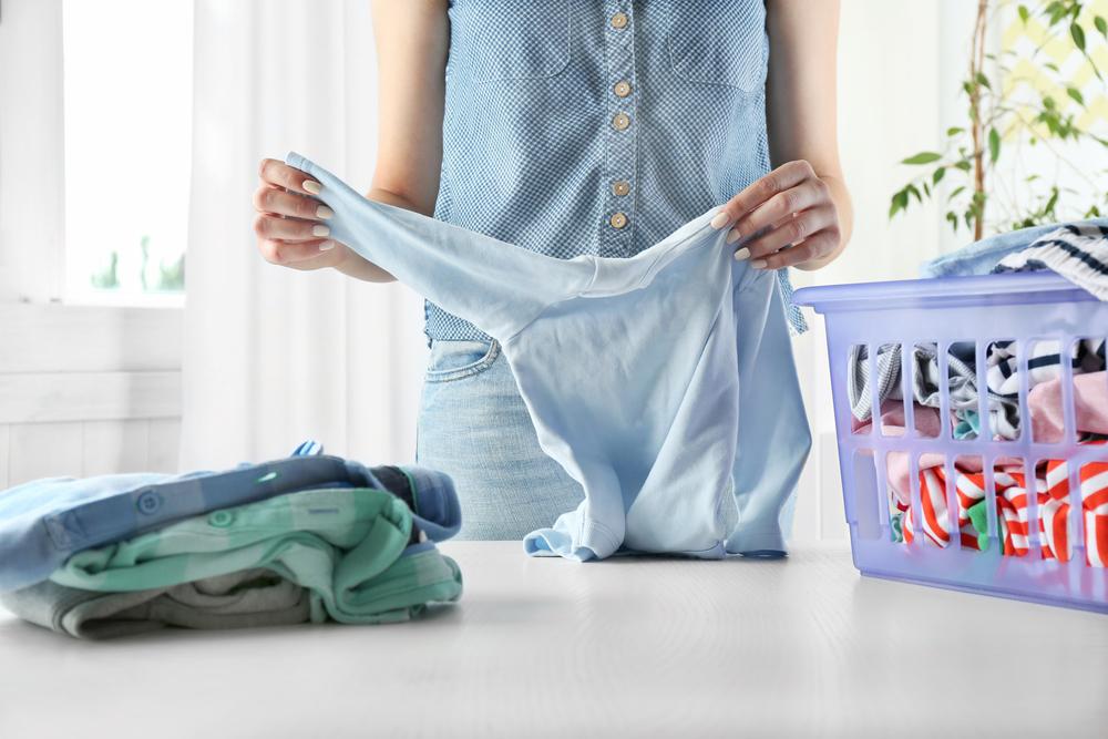 洗濯した衣類のたたみ方