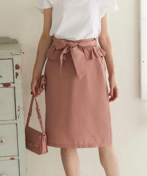 ぺプラムスカート