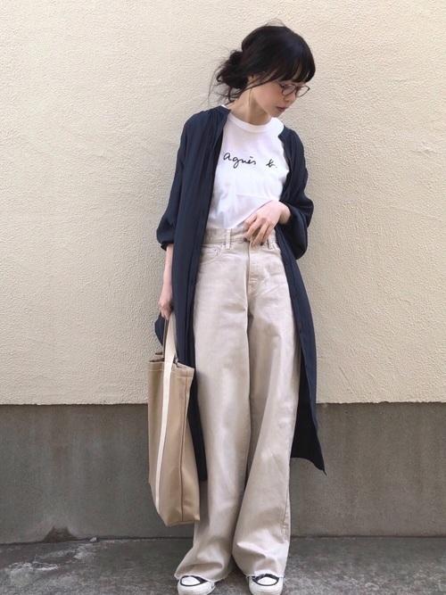 ワイドパンツを使った教習所の服装