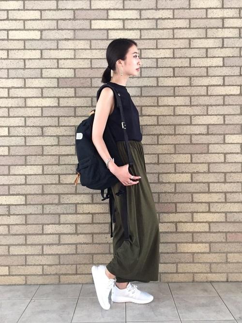 ガウチョパンツを使った教習所の服装