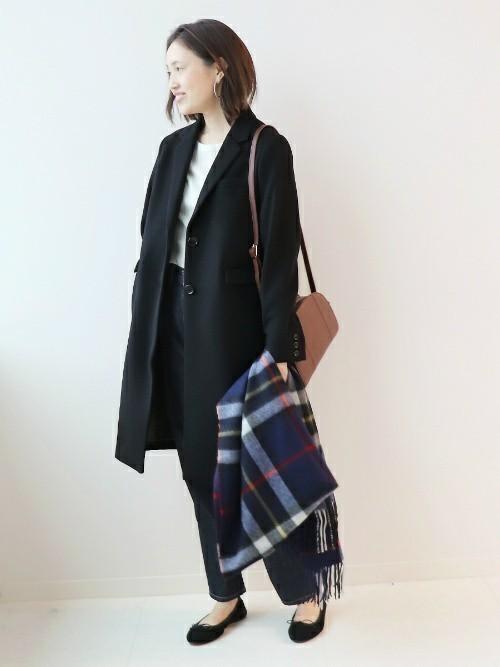 コートを使った国家試験の服装