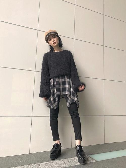 ロックテイストのファッションコーデ