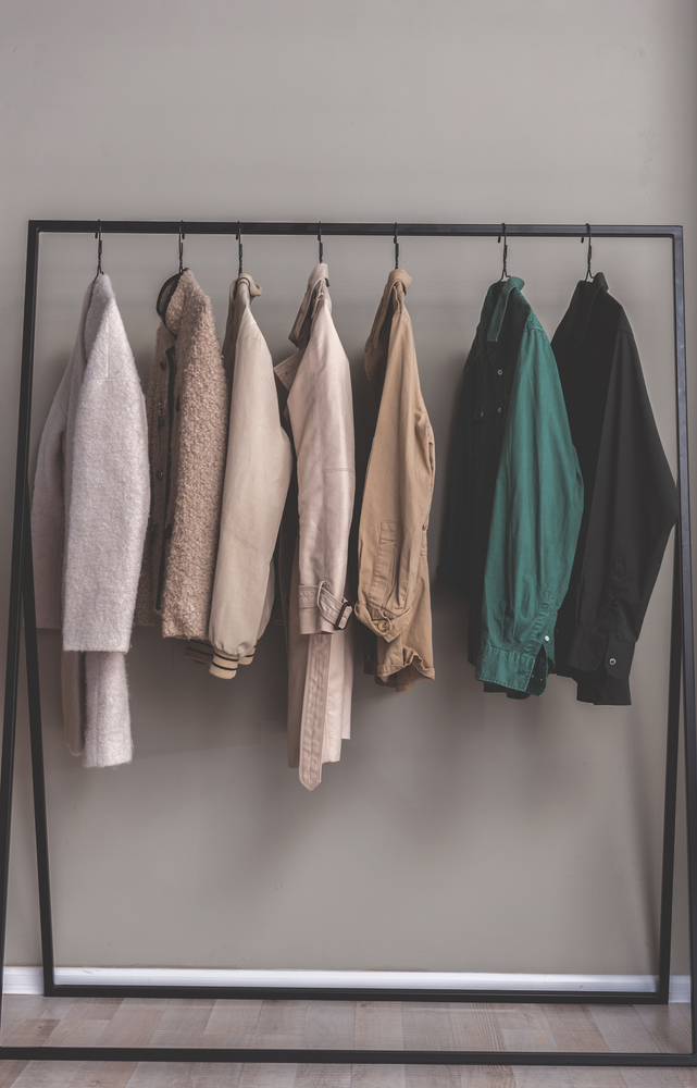 ジャケットとコートのワードローブ