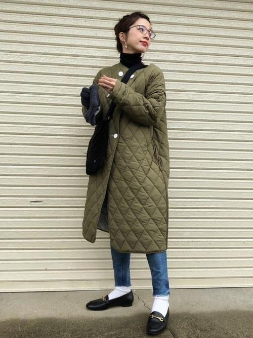 キルティングコートを使ったノルウェーの服装