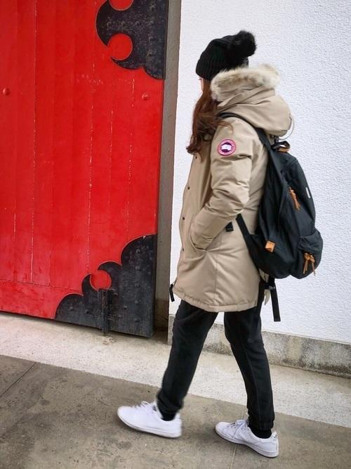 ダウンジャケットを使った氷点下の服装