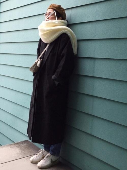 ストールを使った氷点下の服装