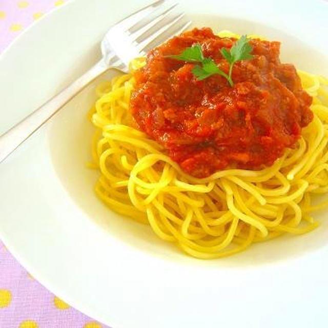▶やっぱり大好き ミートソーススパゲティ(スパゲッティ・ボロネーゼ)のレシピ