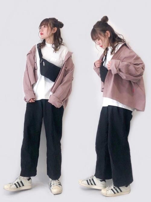ワイドパンツを使った整体の服装