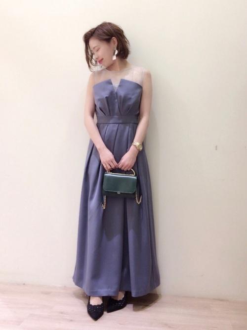 ビスチェドレスを使ったクルージングの服装