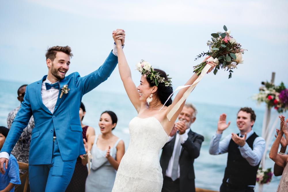 ハワイ挙式のカップル
